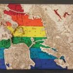San Francisco Bay Pride 3d Wood Map Om Gallery