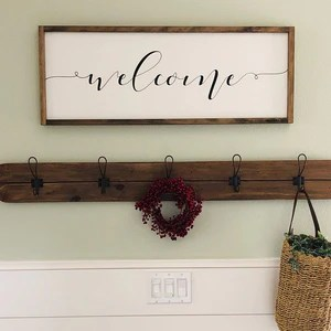 3 foot coat rack wall mounted choose your color