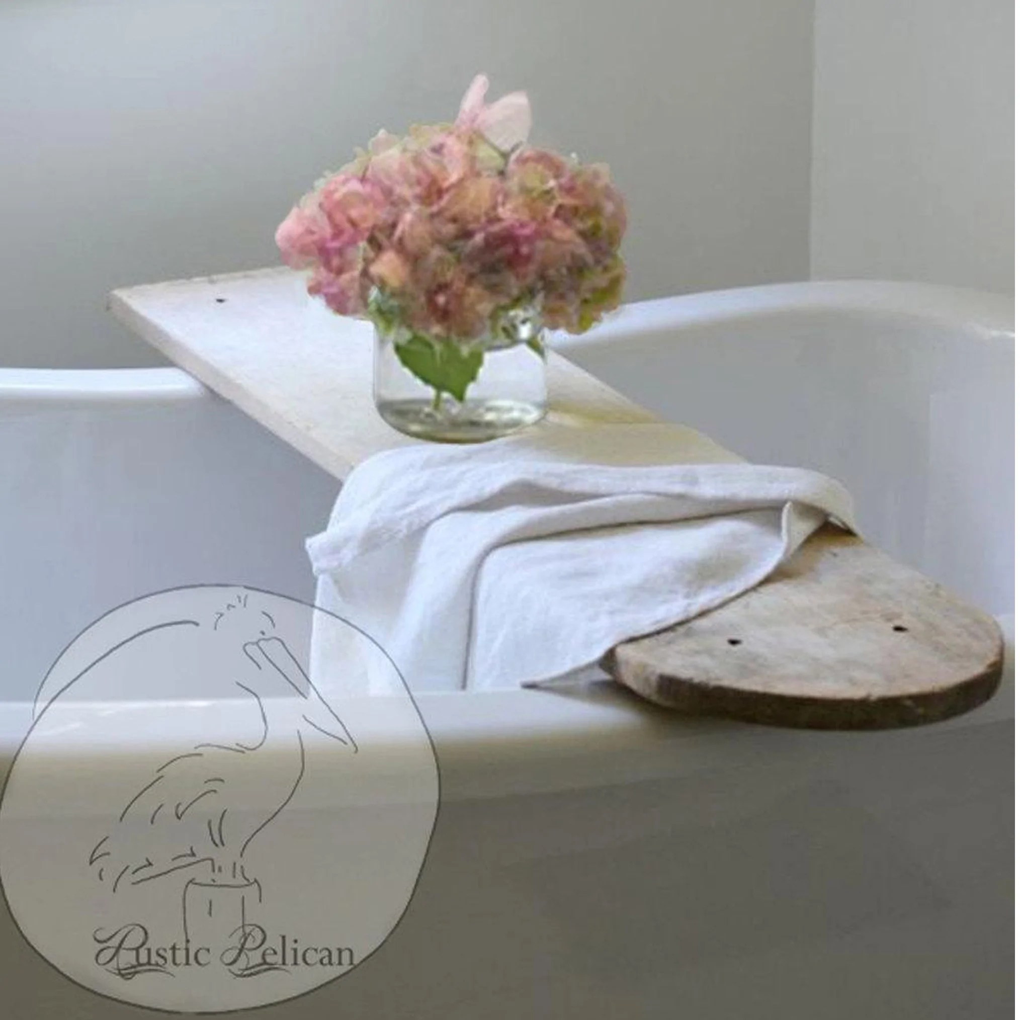 Vintage Bathtub Tray Rustic Wood Bath Caddy Bathroom