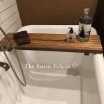 Rustic Wood Bathtub Tray Bath Caddy The Rustic Pelican
