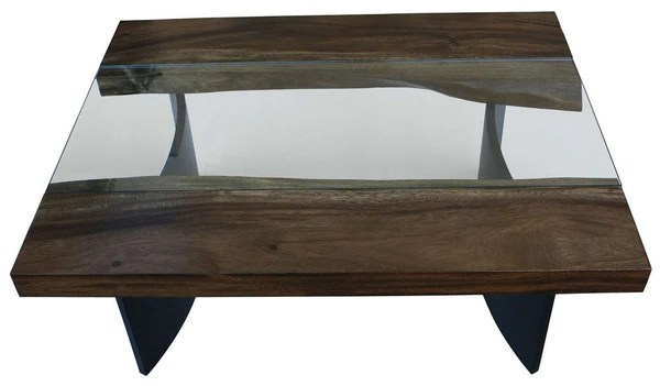 Live Edge Modern Industrial Coffee Table Mortise Amp Tenon