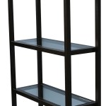 Williamsburg Metal And Glass Modern Bookcase Mortise Tenon