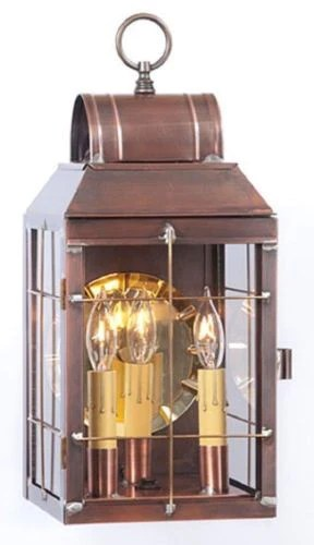 COLONIAL LANTERN ENTRY LIGHT Antique Copper Handcrafted In