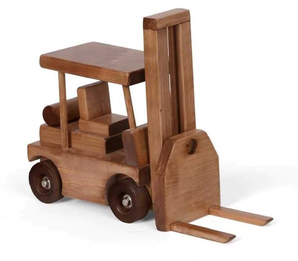Forklift Wood Toy Working Wooden Construction Truck Usa