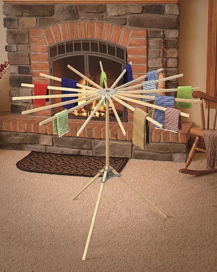 16 arm floor drying rack amish handmade folding maple wood clothes laundry hanger
