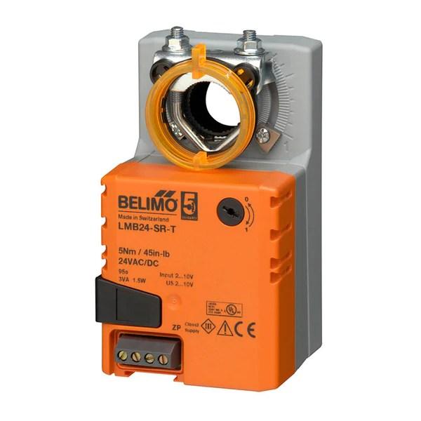 lmb24srt  damper actuator  45 inlb  nonspg rtn  24v  modulating   belimo