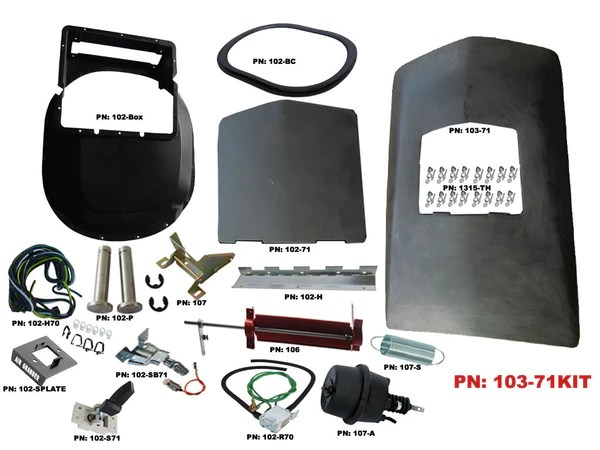 103 71kit Mopar 1971 72 Roadrunner Gtx Air Grabber Kit
