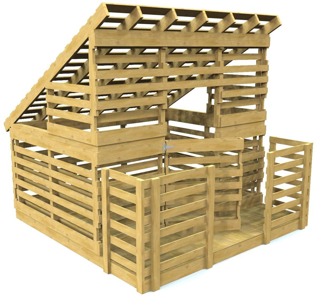 Paul S Pallet Playhouse Free Diy Woodworking Plan Paul