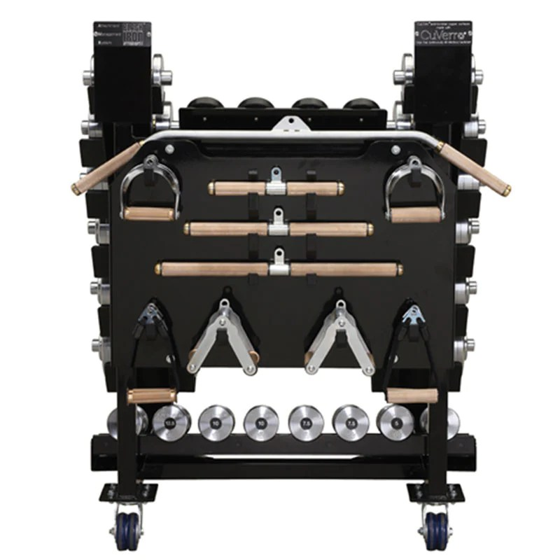 cable attachment storage rack with cable attachments