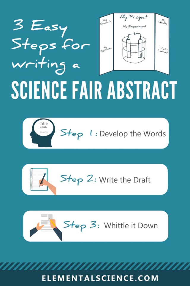 20 easy steps for writing a science fair abstract