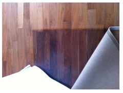 Wood floors that change color