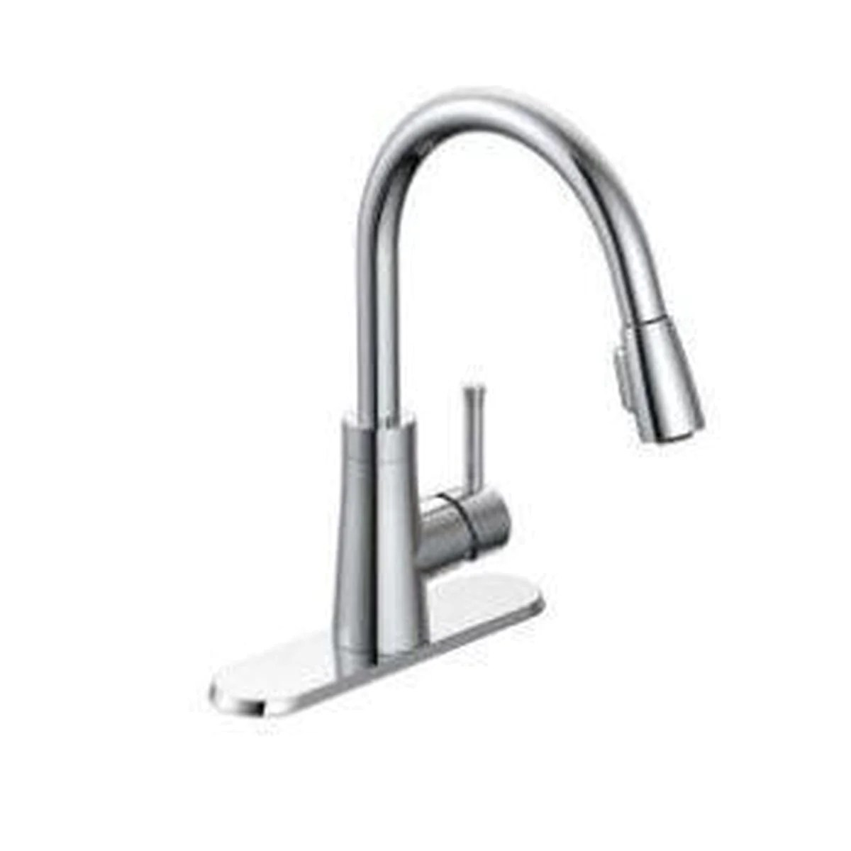 style pd 150 padova single handle kitchen faucet pulldown chome