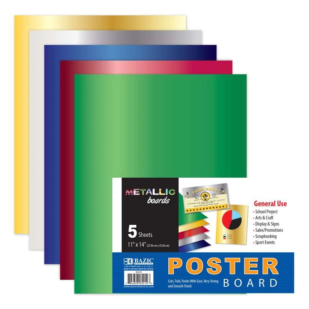 11 x 14 metallic poster board 5 pack