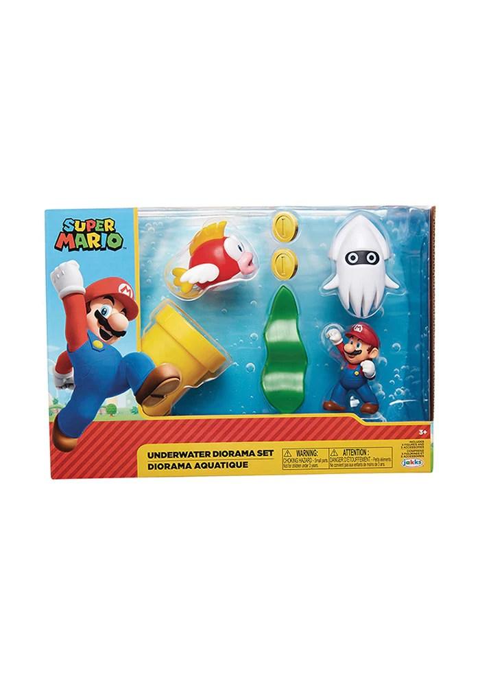 Super Mario Bros World Of Nintendo 2 5 Inch Action Figure Underwater Playset With Mario Newbury Comics