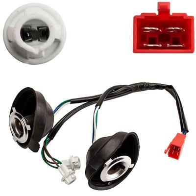headlight wiring harness with turn signals for tao tao evo