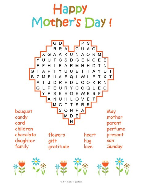 Mother's Day Puzzle Bundle - PRINTABLE PDF – Puzzles to Print