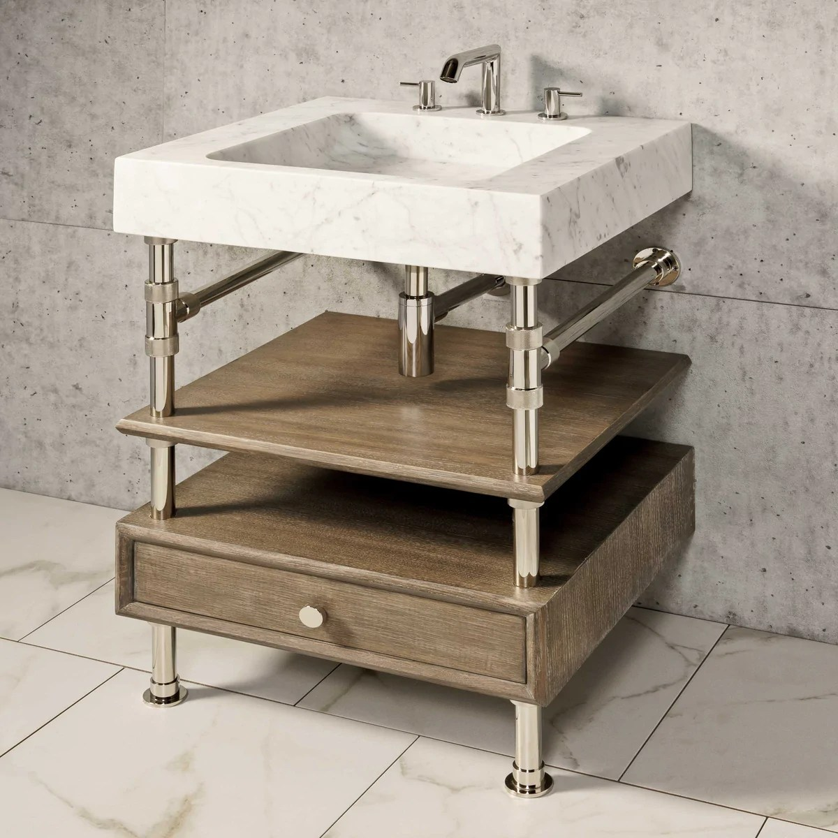 terra console sink 24 stone forest