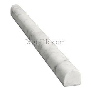 italian bianco carrara polished bullnose trim deko tile