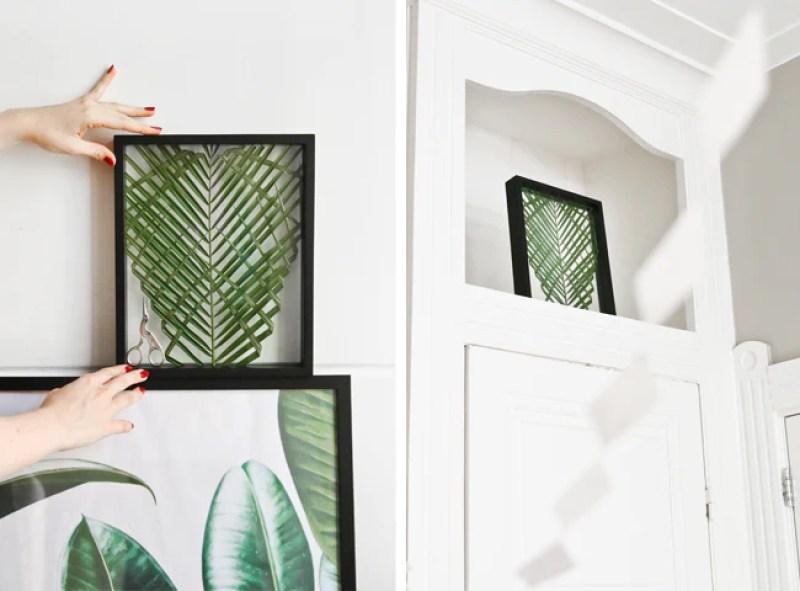 DIY Palm Leaf in a Frame