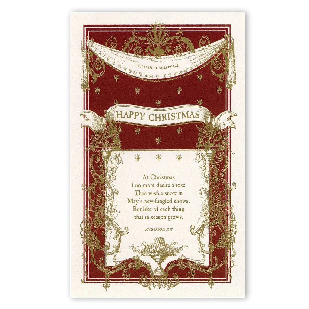 Shakespeare Happy Christmas Cards The Readers Catalog NYR