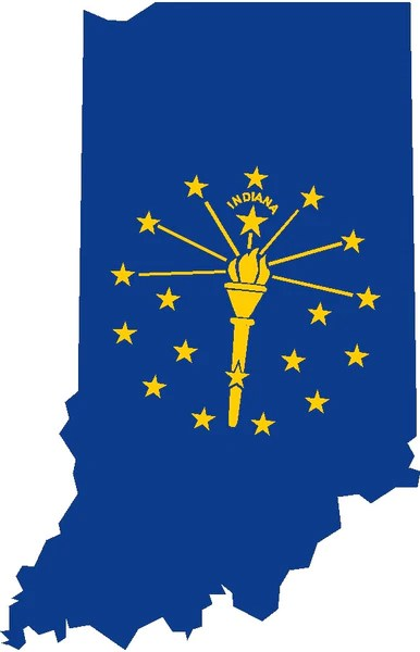indiana state flag decal House Of Grafix