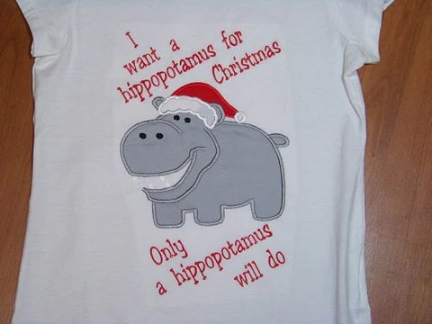 all i want for christmas is a hippopotamus t shirt - All I Want For Christmas Is A Hippopotamus Ringtone