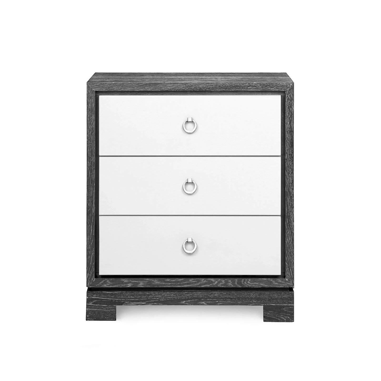 Bungalow 5 Berkeley 3 Drawer Side Table In Gray