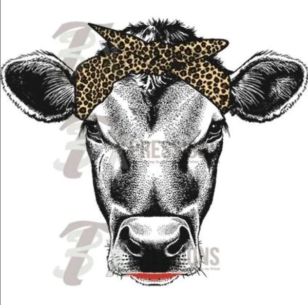 Heat Transfer Vinyl Leopard Scarf Cow 3T Xpressions