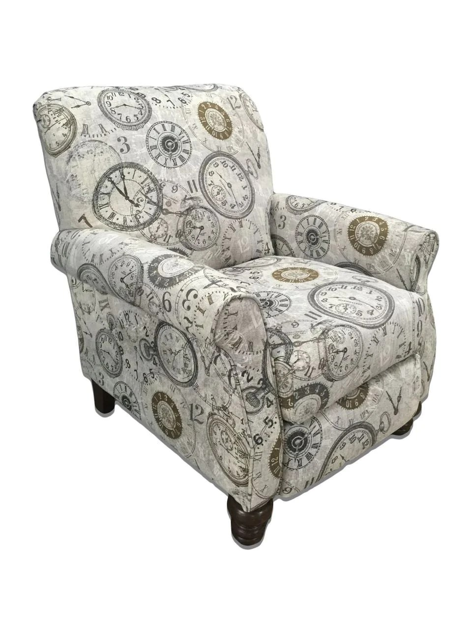 Timeless Patina Clockwork Accent Recliner By Serta Upholstery My Furniture Place