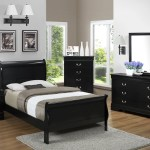 Black Twin Sleigh Bedroom Set My Furniture Place