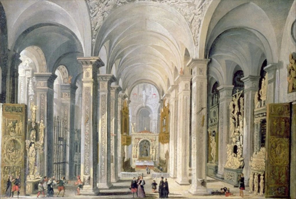 Interior of a Church posters   prints by Francois de Nome Detail of Interior of a Church by Francois de Nome