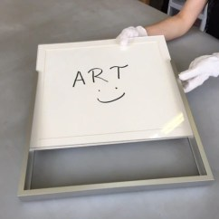 All at one time, slide your cleaned frame contents into the exposed channel of the frame