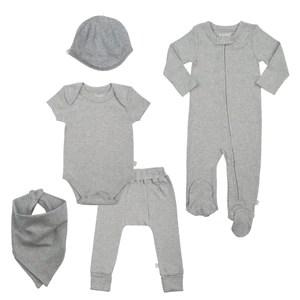 basics bundle set heather gray