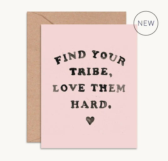 Download Find Your Tribe, Love Them Hard Bridesmaid Card - Wedding Bags