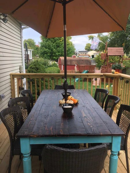 Spindle Farmhouse Dining Table Wooden Whale Workshop