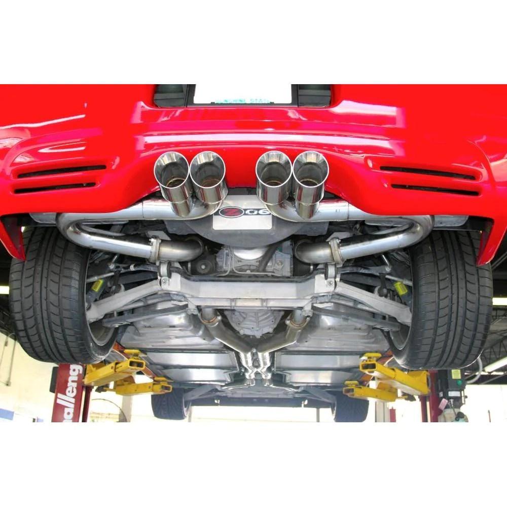 b b bullet axle back corvette exhaust quad round tips 97 04 c5 c5 z06