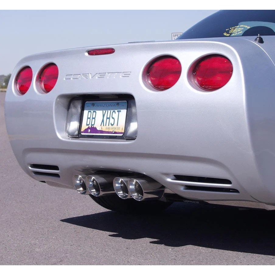 b b route 66 axle back corvette exhaust quad 3 5 round tips 97 04 c5 c5 z06
