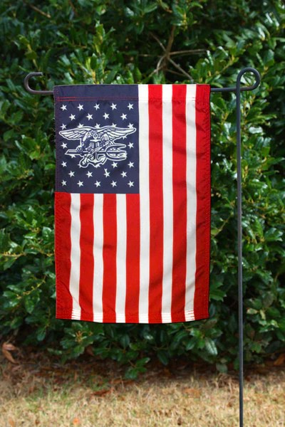 American Flag With Navy SEAL Trident In Stars UDT SEAL Store