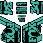 Fox 34 Float Decal Kit Matte Finish Fanatik Bike Co