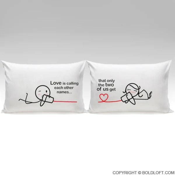 BoldLoft Between You Amp Me Couple Pillowcases Love Pillow