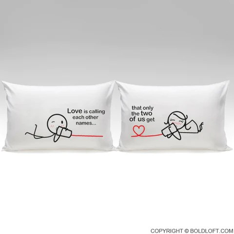 between you me couple pillowcase set