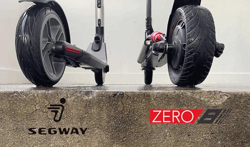 electric scooter comparison segway es2 zero 8 contact patch