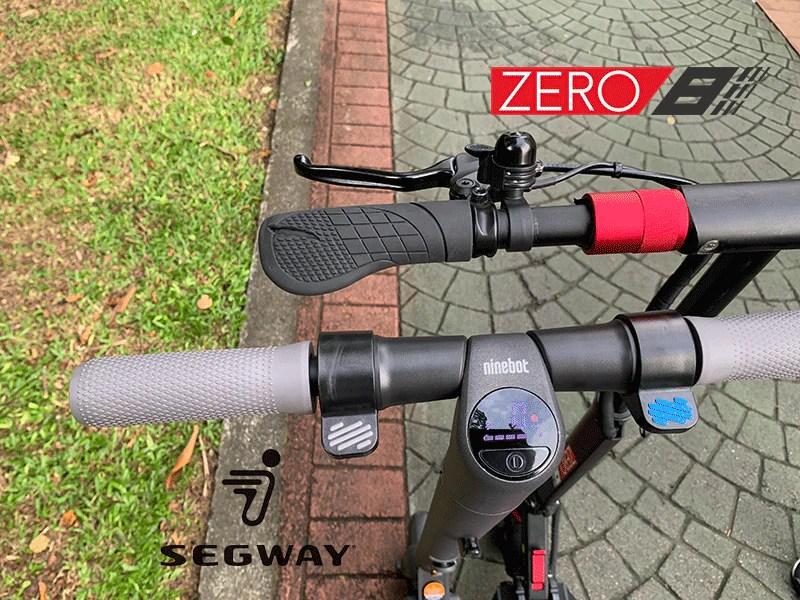 comparaison scooter électrique segway es2 zéro 8 levier de frein