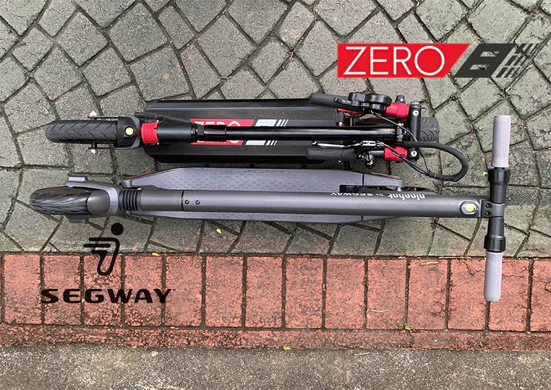 top view electric scooter comparison segway es2 zero 8