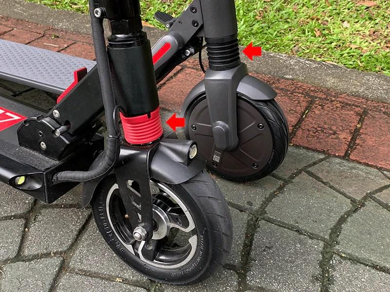 comparaison scooter électrique segway es2 zéro 8 suspension