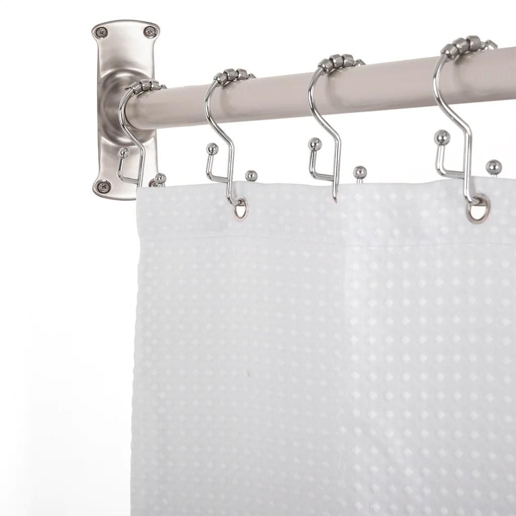 Utopia Alley Rustproof L Shaped Corner Shower Curtain Rod