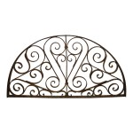 Wrought Iron Arched Transom Window Grill Ski Country Antiques Home