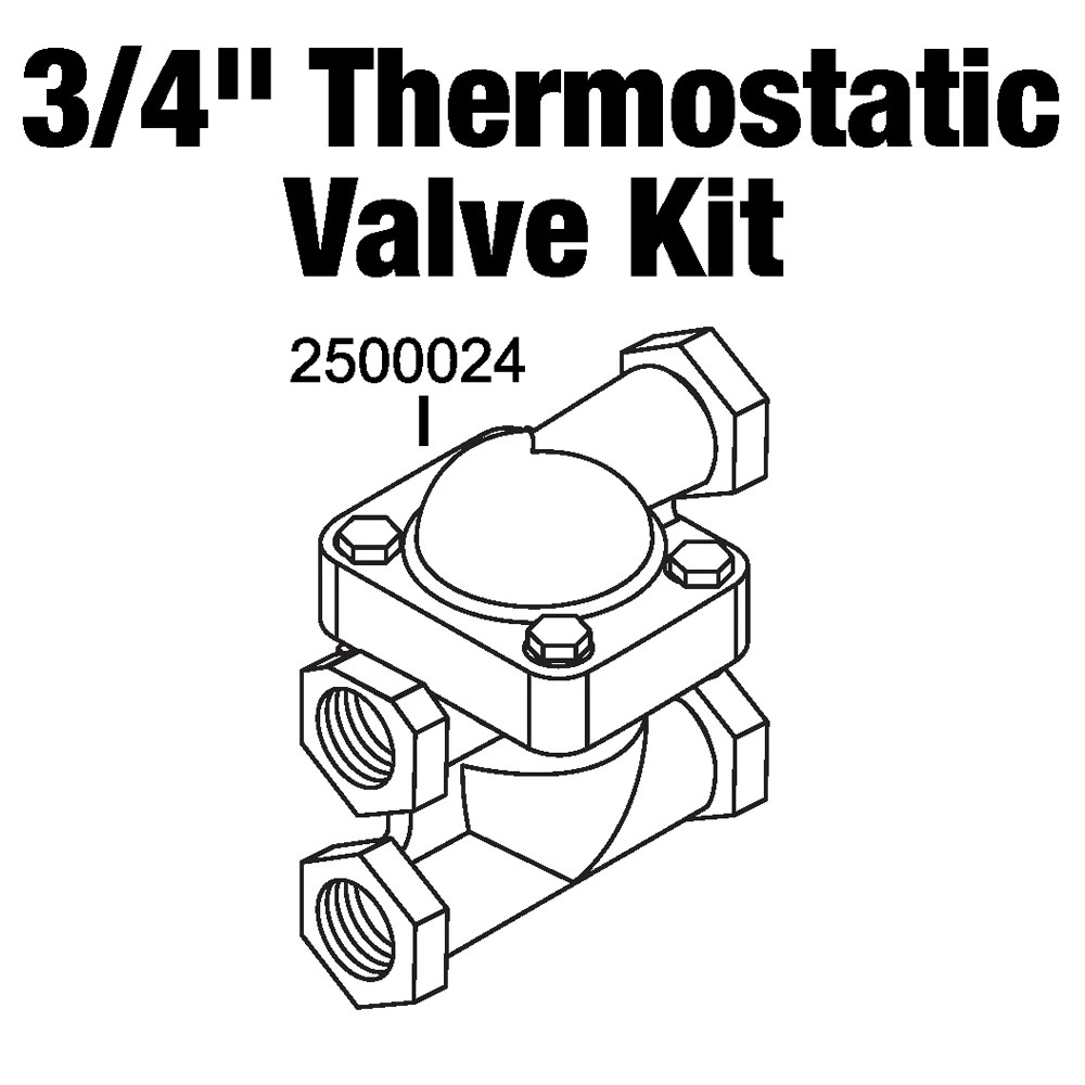 Central boiler thermostatic valve and body kit 34 npt wood thermostatic valve and body kit 34
