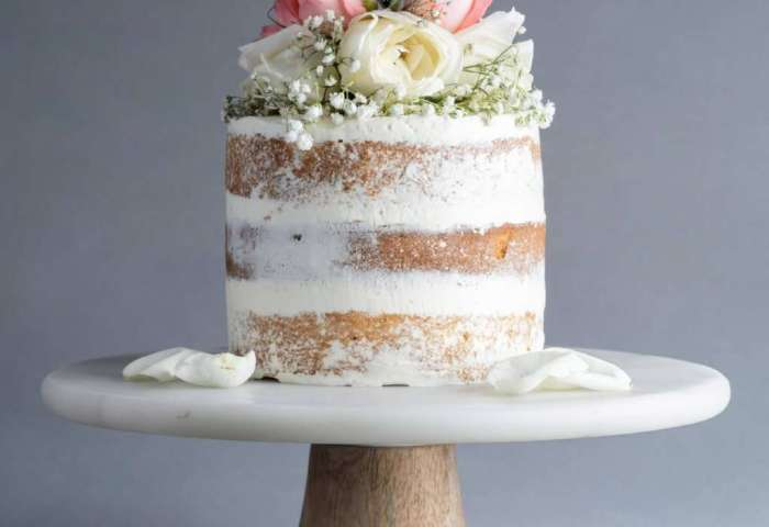 Naked Cake With Fresh Flowers 6 Eat Cake Today Birthday Cake