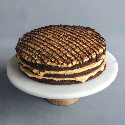 Kek Coklat Moist | Salted Caramel Drizzle Cake | Online Delivery KL/PJ